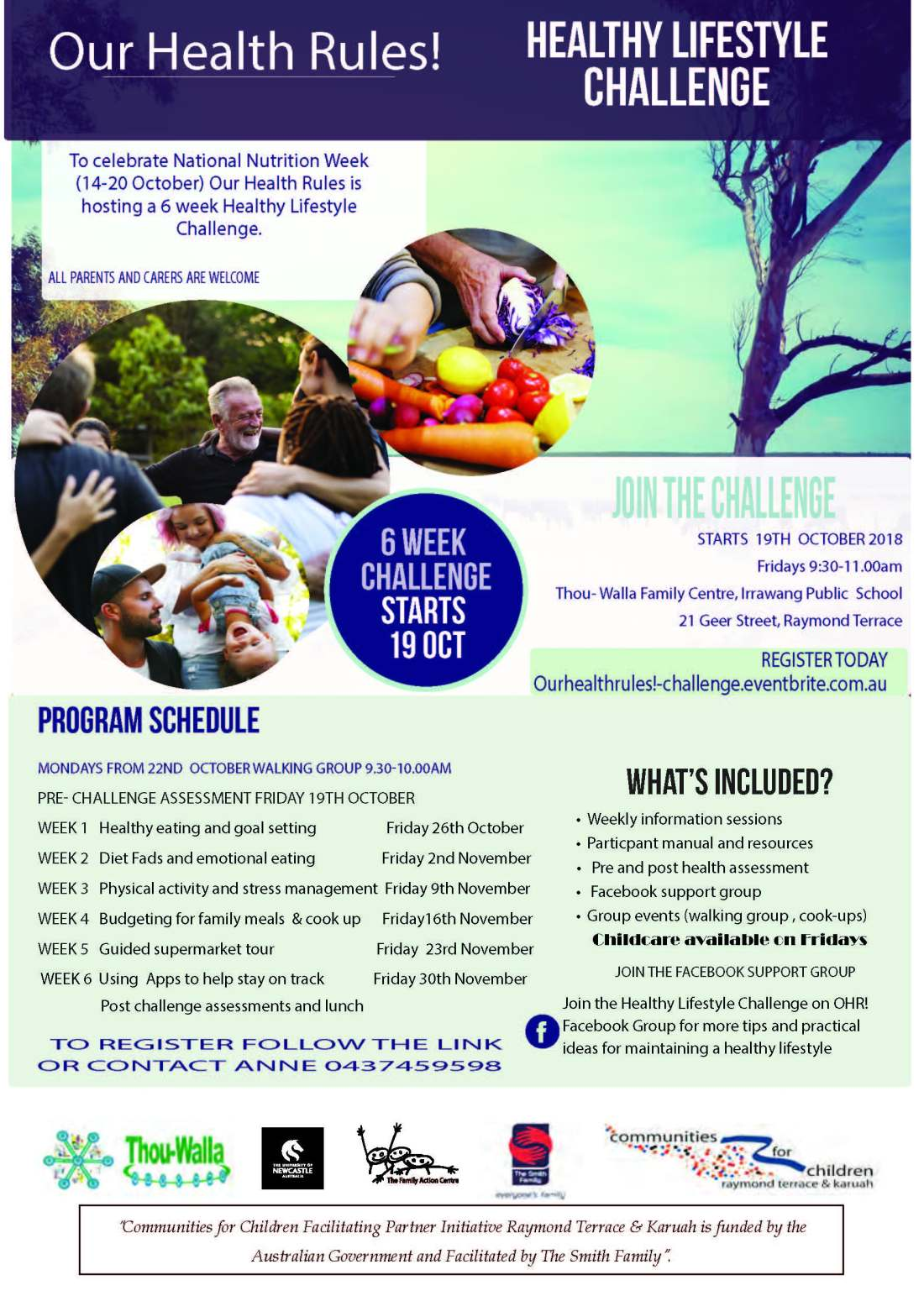 OHR Healthy Lifestyle Challenge Flyer reduced size