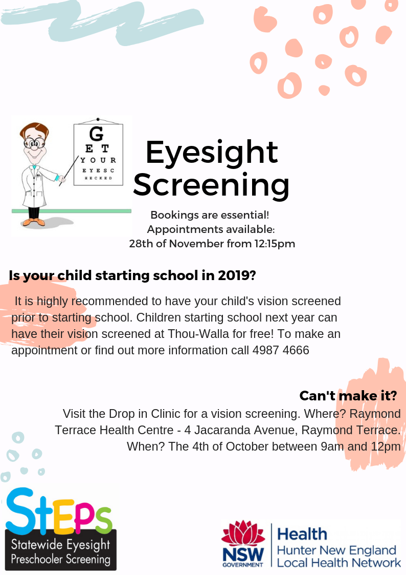 Steps Eyesight Screening