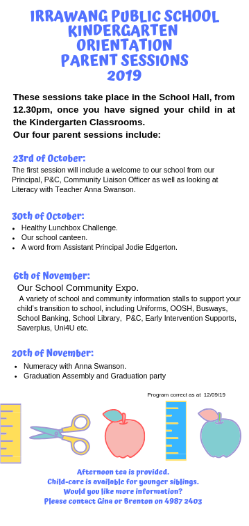 Copy of Irrawang public school transition to school program_ parent Sessions